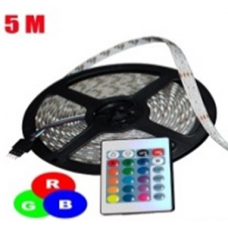 TIRA DE LED 5 METROS 11W CONTROL REMOTO 16 COLORES RGB 9W5M1